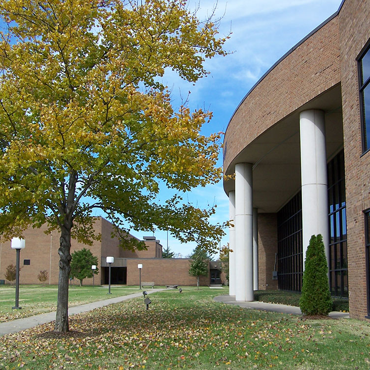 exterior of library building